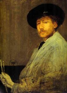 James Abbott Mcneill Whistler - construction dans  gris  Portrait  de  au  peintre