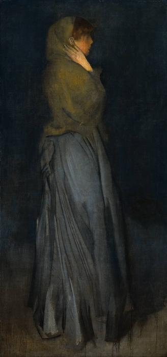 Arrangement en jaune et gris, Effie Deans, huile de James Abbott Mcneill Whistler (1834-1903, United States)