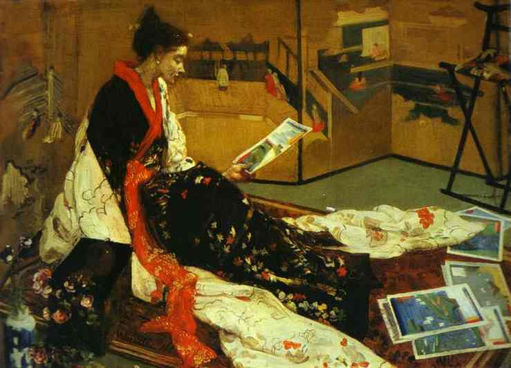 Caprice en pourpre et d or n ° 2 - Le Golden Screen de James Abbott Mcneill Whistler (1834-1903, United States) | WahooArt.com