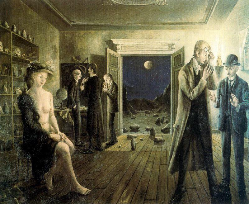 Phases de la Lune II de Paul Delvaux (1897-1994, Belgium)      WahooArt.com