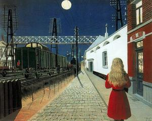Paul Delvaux - solitude