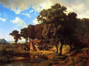 Albert Bierstadt - a rustique mill