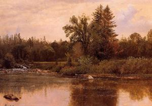 Albert Bierstadt - Paysage , le new hampshire