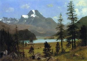 Albert Bierstadt - Long-s Pic , Estes Parc , Colorado