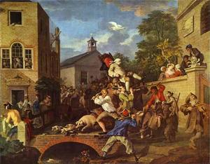William Hogarth - Présidant la membre