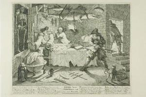 William Hogarth - Hudibras et Sidrophel, plaque de huit Hudibras