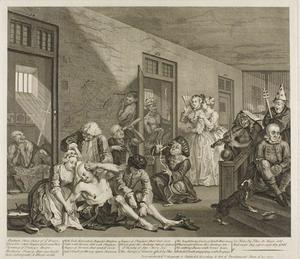 William Hogarth - Plate huit , depuis un Rake's Progress