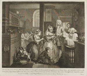 William Hogarth - Plate cinq , depuis un Rake's Progress
