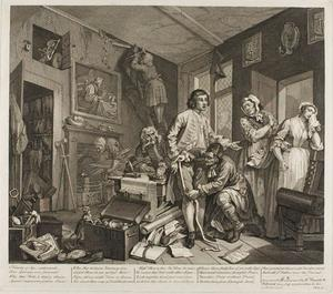 William Hogarth - Plate one , depuis un Rake's Progress