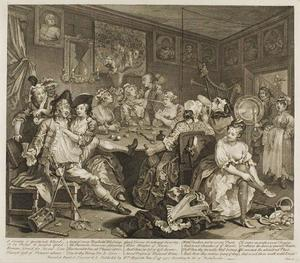William Hogarth - Plate trois , depuis un Rake's Progress