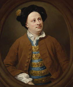 William Hogarth - portrait de richard james de l' milieu temple