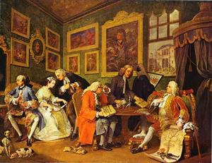William Hogarth - Le contrat de mariage