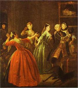 William Hogarth - le `theft` d-un regarder