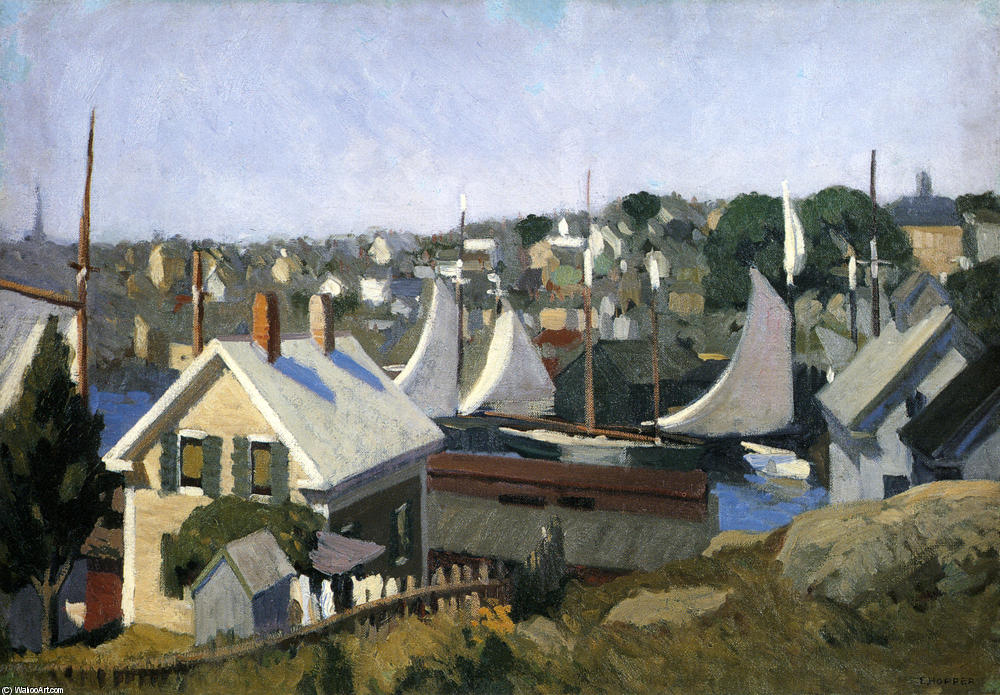 Gloucester Port, 1912 de Edward Hopper (1931-1967, United States) |  | WahooArt.com