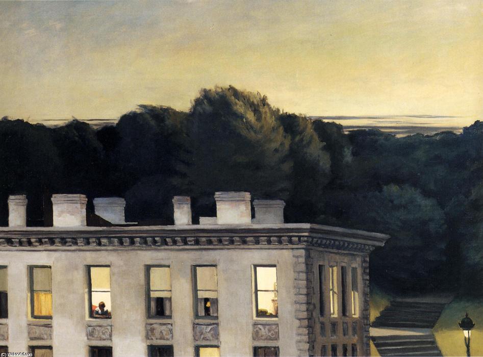 Maison au cr puscule huile sur toile de edward hopper 1931 1967 united sta - Edward hopper maison ...