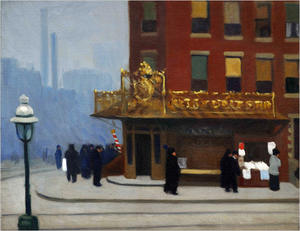 Edward Hopper - New York coin  coin  Salon