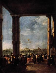 Francesco Lazzaro Guardi - Montgolfière Rising