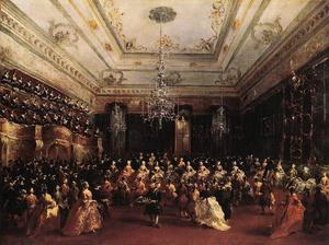 Francesco Lazzaro Guardi - dames concert à l' `philharmonic` salle