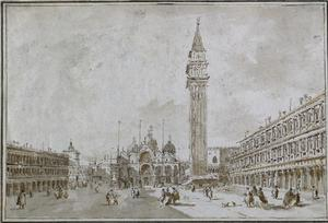 Francesco Lazzaro Guardi - Piazza San Marco , Venice