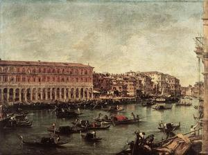 Francesco Lazzaro Guardi - le grand canal à l' poisson marché ( Pescheria )