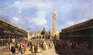 Francesco Lazzaro Guardi - le `piazza` san marco vers l' basilique