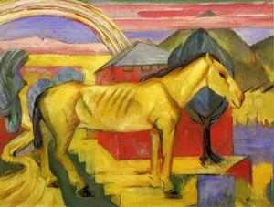 Franz Marc - long jaune cheval
