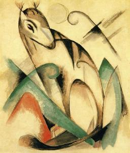 Franz Marc - Assis animal mythique