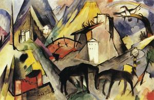 Franz Marc - Le Land du Tyrol Unfortunte