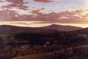 Achat Reproductions D'art | Ira Mont , Vermont, 1849 de Frederic Edwin Church (1826-1900, United States) | WahooArt.com