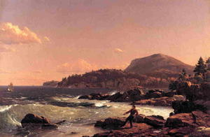 Frederic Edwin Church - Newport Easton mont  mont  du désert