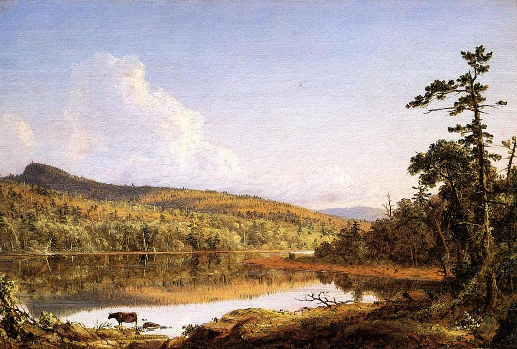 au nord lac, 1847 de Frederic Edwin Church (1826-1900, United States) | Reproductions D'art Sur Toile | WahooArt.com