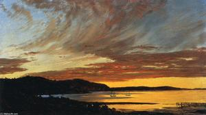 Frederic Edwin Church - Coucher du soleil , Bar Port