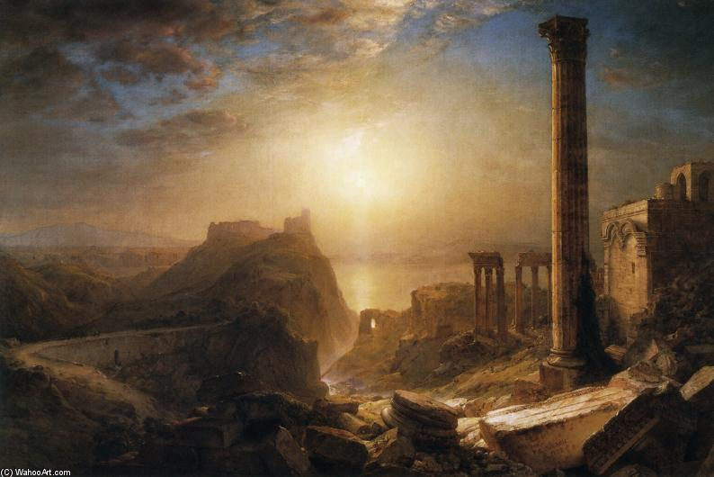 syria` par l` mer, 1873 de Frederic Edwin Church (1826-1900, United States) | Reproductions D'œuvres D'art Frederic Edwin Church | WahooArt.com