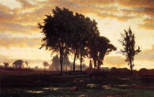 George Inness - paysage-coucher du soleil