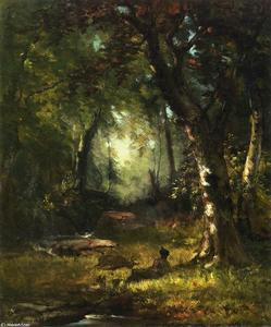 George Inness - Le Chasseur