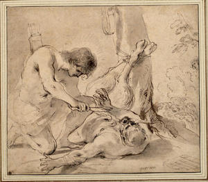 Guercino (Barbieri, Giovanni Francesco) - Apollon et Marsyas