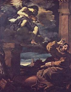 Guercino (Barbieri, Giovanni Francesco) - Estasi di San Francesco
