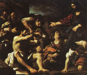Guercino (Barbieri, Giovanni Francesco) - La résurrection de Lazare