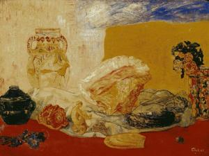 James Ensor - Coquillages roses et de vases