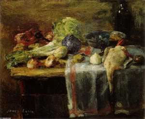 James Ensor - nature morte avec canard