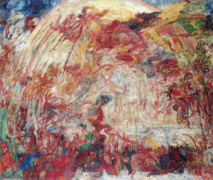 James Ensor - lautomne la chute de  la  rebelle  anges
