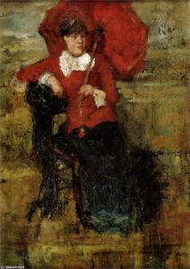 James Ensor - la dame avec l red parasol