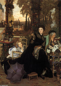James Jacques Joseph Tissot - Une Veuve