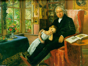 John Everett Millais - James Wyatt et sa petite-fille Mary