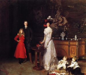 John Singer Sargent - Monsieur george sitwell , lady ida sitwell et famille