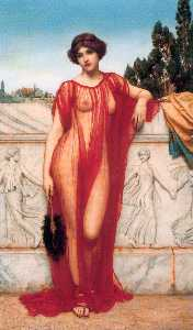 John William Godward - Athénaïs