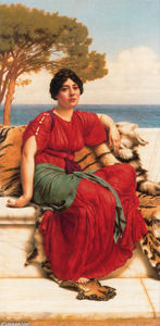 John William Godward - par l bleu  Ionienne  mer