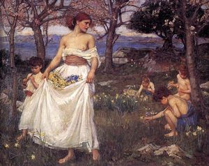 John William Waterhouse - a chanson des printemps