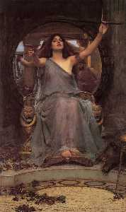 John William Waterhouse - Circé Offrant la Coupe à Ulysse