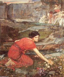 John William Waterhouse - Maidens cueillette étudier